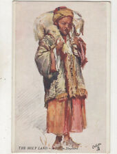 The Holy Land A Syrian Shepherd Fulleylove Tuck Oilette Vintage Postcard US054