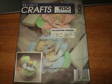vintage mccalls craft pattern 9130 enchanting friends enchanted forest baby doll