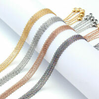 Never Fade Stainless Steel Chains Necklace Waterproof Link Curb Chain Jewelry