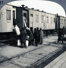 Keystone Stereoview of Boarding a Train in Siberia, RUSSIA from 1930's T600 Set