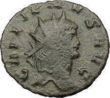 Gallienus son of Valerian I  Ancient Roman Coin Fortuna Cult Luck Wealth 31580
