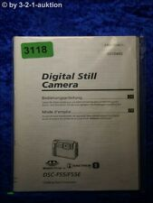 Sony Bedienungsanleitung DSC F55 /F55E Digital Still Camera (#3118)