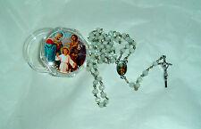 HOLY FAMILY Box w/Holy Family ROSARY Inexpensive Catholic NEW Case Mary Jesus