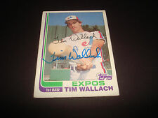 1982 TOPPS #191 TIM WALLACH EXPOS AUTOGRAPH SIGNED CARD JSA STAMP -BK