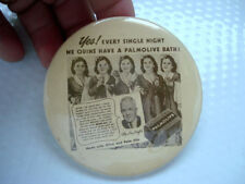 CELLULOID POCKET MIRROR ~ PALMOLIVE BATH SOAP ~ DIONNE SISTERS MIRACLE BABIES