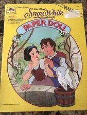 Walt Disney's Snow White Paper Doll Book,1991, Uncut