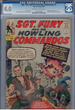 SGT. FURY and his HOWLING COMMANDOS #1  CGC 4.0  Off-White to White Pages!  1963