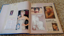 Madonna Scrapbook from 1990's Vintage Newpaper Magazine Cover Photos Clippings
