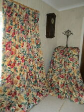 Fabulous Classic Country House Floral Large Heavy Interlined Curtains