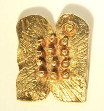 Dani Karavan Tablets of Ston glided brooch pendant dated signed