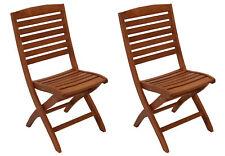 Gartenstuhl Klappstuhl Gartenmöbel Stuhl Holzstuhl CAPO Eukalyptus, 2 Stück, FSC