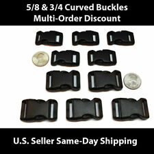 5/8 & 3/4 Plastic Curved Side Release Buckles for Paracord & Crafting US SELLER