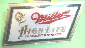 Vintage--1951-- Miller High Life- Beer Logo- SIGN Green Gold -Plastic Wall Decor