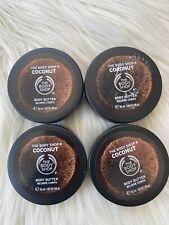 4 pc ~ THE BODY SHOP Coconut Body Butter AUTHENTIC Moisture Cream 6.76oz/200ml T