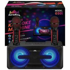 KaraoKing Karaoke Machine 2 Wireless Karaoke Microphone Bluetooth Compatible