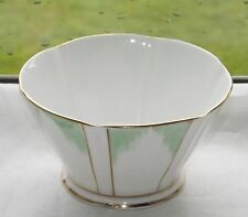 Royal Albert Crown China ART DECO 1930s Sugar Bowl Verde e Dorati Decorazione