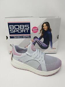 Skechers Bobs Sports 2 . 0 Metro Daisy UK Size 5  Grey Mauve walking Trainers