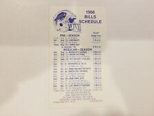 Buffalo Bills 1988 NFL Football Pocket Schedule - Marine Midland Bank