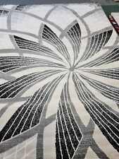 Quality Rug Grey Beige Black 200cm x 290cm Soft Touch Living Room Turkish Carpet