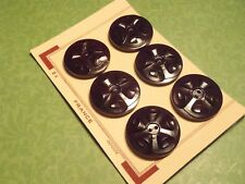 Vintage French Buttons Brown Lge 32 mm jewelry scrapbook handbag knit craft sew