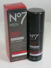 No7 Men Protect & Intense Advanced Eye Cream Anti Ageing Sensitive  Brand New