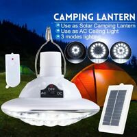 New 22 LED Outdoor/Indoor Solar Lamp Hooking Camp Garden Light Remote Control