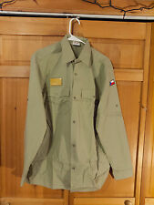 Czech Republic Khaki Uniform Long Sleeve Shirt, w/ HOOK AND LOOP patch Size XL