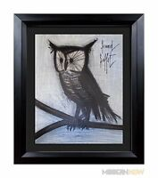 Bernard BUFFET Original LITHOGRAPH Limited EDITION - OWL 1967 ++++Custom FRAMING