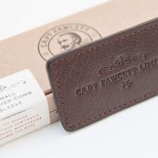 Capitán Fawcett's Leather Case for plegable de bolsillo bigote Peine (CF.87T)