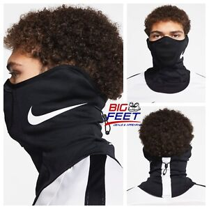 NIKE Strike Snood Face Mask / Black Training Running Scarf Gaiter Size Large/XL