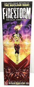 The Nuclear Man Firestorm Promotional Comic Store Poster DC Comics 2004