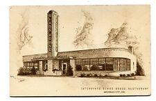 Vintage Postcard INTERSTATE GLASS HOUSE RESTAURANT Michigan City IN