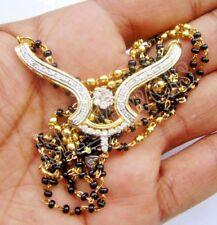 1.56CT NATURAL DIAMOND 14K YELLOW GOLD WEDDING ANNIVERSARY MANGALSUTRA NECKLACE