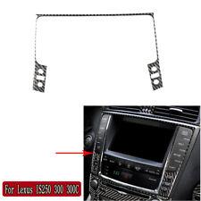For Lexus IS250 300 350 2006-2012 Carbon Fiber Central Car Navigation Frame Trim