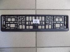2x EU Car License Plate Holder Bracket Number Plate Base Mounting Frame