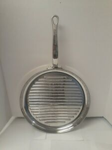 "Practically New! KITCHENAID 12"" STAINLESS STEEL FRYING/GRILL PAN FISH?FRY"