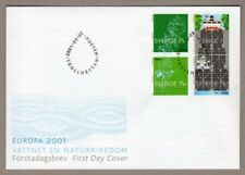 Sweden 2001 europa cept boats ships FDC face value price