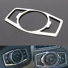 Stainless Steel Headlight Switch Controller Knob Trim Cover For 12-16 Ford Focus