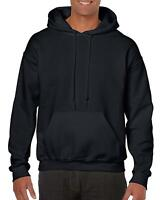 NEW Gildan Men's Heavy Blend Fleece Hooded Sweatshirt G18500 Black 2XL Hoodie