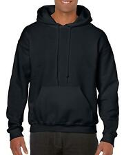 NEW Gildan Men's Heavy Blend Fleece Hooded Sweatshirt G18500 Black Large Hoodie