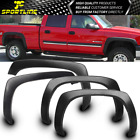 Fits 99-2006 Chevy Silverado Oe Factory Style Fender Flares Wheel Cover Black Pp