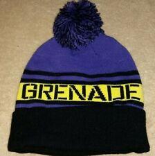 NWT Grenade Purple Snowboard Beanie Hat Cap Toboggan Pom Adult Mens One Size