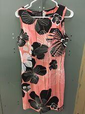 CONNECTED size 4 women's RETRO PRINT DRESS sleeveless vintage look flirty summer