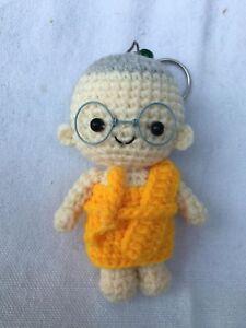 Crochet doll Stuffed Toy-Thai Amulet Novice-Buddhism monk KEYCHAIN Handmade