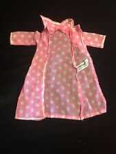 Vtg Rare Velvet Chrissy Doll Pink & White Polka'd Robe With Tag Adorable Orig.