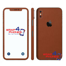 Carbon Leather Wood Chrome Gloss Skin Wrap Sticker Deca Case Cover iPhone XS MAX