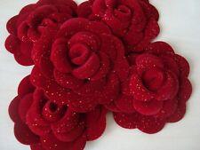 CHANEL  sticker set 5 pcs  red  velvet  big  camellia  flower holiday 2019 vip