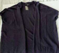 NWT~LANE BRYANT BLACK OPEN FRONT OVERPIECE CARDIGAN SWEATER 22/24