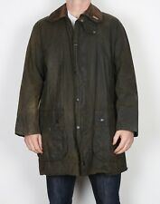 "BARBOUR Border Wax Jacket Chest 42"" Green Medium Large (J2B)"