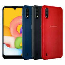 Новый Samsung Galaxy A01 Dual SIM 4G LTE Sim бесплатно 16 ГБ смартфон черный синий красный